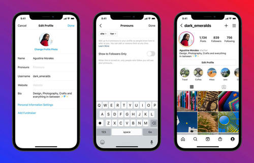 Instagram will now let users add pronouns to their profiles