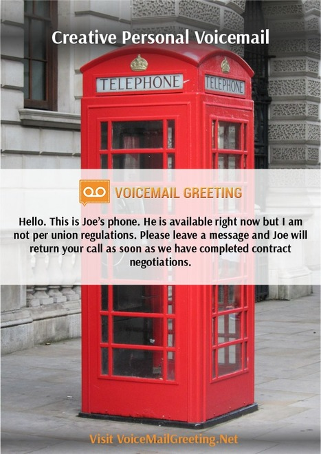 Creative voicemail greeting sample voicemail creative voicemail greeting sample m4hsunfo Image collections