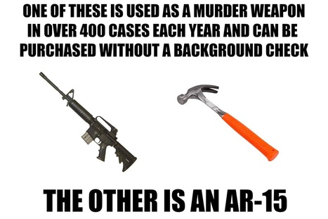 "It's not the hammer, it's what a murderous POS does with it!  ""Gun Control"" is a deadly LIE!   LL #2A - #OATH 1st 