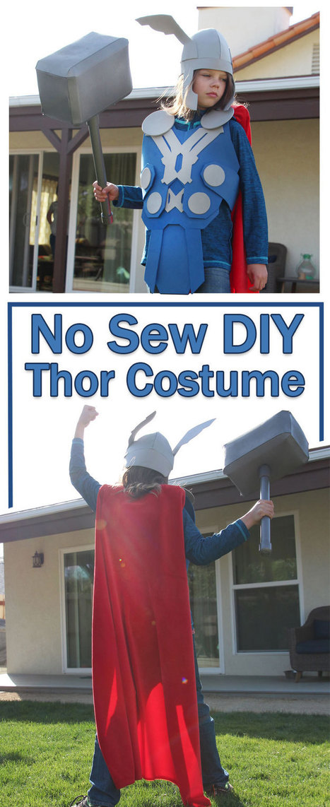 No Sew Diy Thor Costume That You Can Make Right