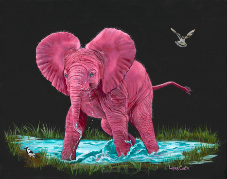 Water Fun | Wildlife Art by: Laura Curtin | Good News for Artists | Scoop.it