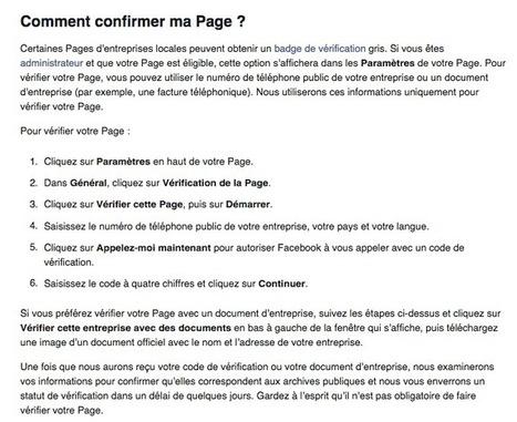 Disponibilité du badge de vérification pour Les Pages Facebook locales en France   Emarketinglicious   Marketing et Numérique scooped by Médoc Marketing   Scoop.it