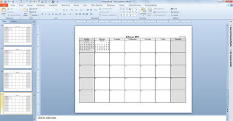 Make Your Free Calendar 2013 Template in PowerPoint | iEduc | Scoop.it