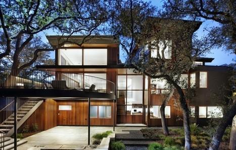 Maison Bois Contemporaine   Tree House Par Miró Rivera Architects   Austin    USA