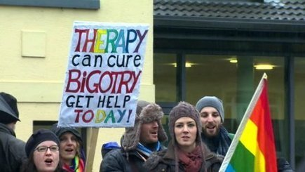 Protest outside gay therapy event   Psychotherapy & Counselling   Scoop.it