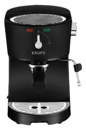 Krups xp320 opio pump boiler espresso machine w krups xp320 opio pump boiler espresso machine with milk frothing nozzle for cappuccino black fandeluxe Image collections