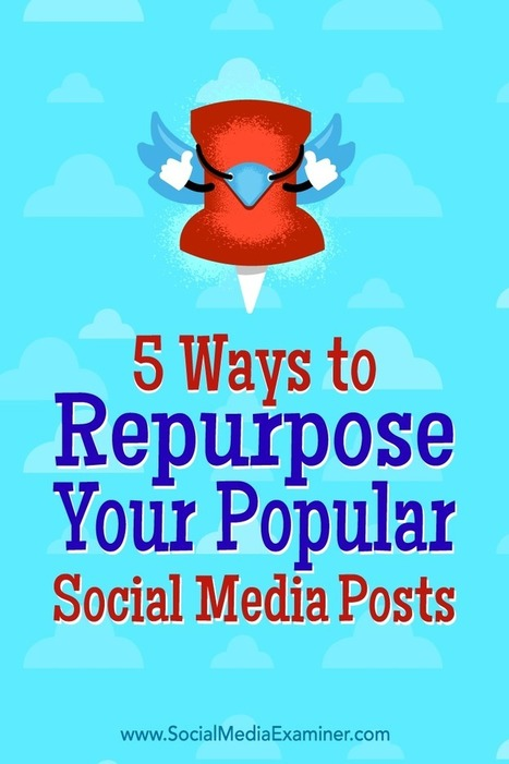 5 Ways to Repurpose Your Popular Social Media Posts  | Content Marketing & Content Strategy | Scoop.it