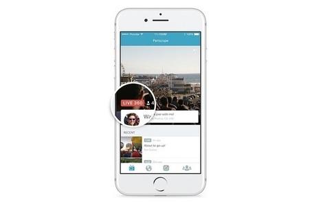 La vidéo en direct à 360° débarque sur Twitter et Periscope | Social Media Curation par Mon Habitat Web | Scoop.it