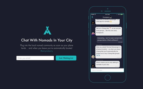 Nomad Messenger is another fine #startup | Designing  service | Scoop.it