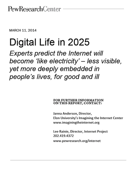 Elon Pew Future of the Internet Survey Report: Experts Predict Internet's Impact by 2025 | Literacias sec XXI | Scoop.it