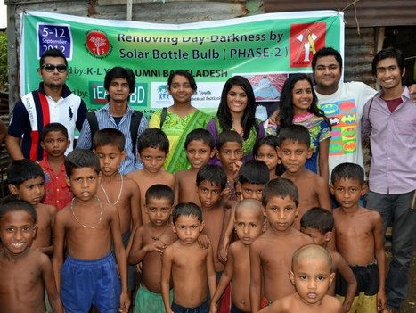#KLYES Bangladesh Removing Day-Darkness by Solar Bottle Bulb (Phase-2) | iEARN in Action | Scoop.it