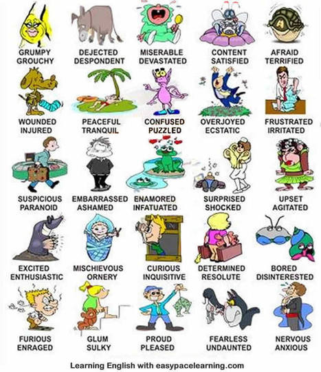 Feelings and emotions English lesson learning emotions feelings | ESOL, TESOL, TESL, ESL | Scoop.it