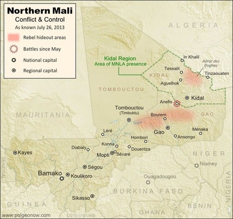 Political Geography Now: Mali Conflict Map: National Territory Reunited Ahead of Elections (#6) | Blunnie's Geo Portfolio | Scoop.it