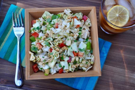 Chopped Chicken Salad With Creamy Peanut Dressing | Nutrition & Recipes | Scoop.it