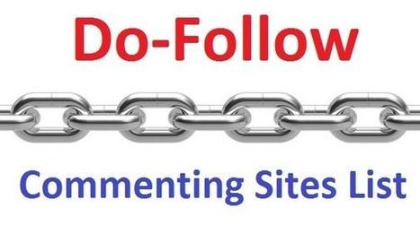 High PR Blog Commenting Sites For Free Backlink