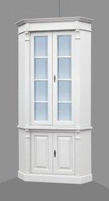 eckschrank hereford weiss b110cm pinie massivholz dekoration landhaus online kaufen moebel im landhausstil