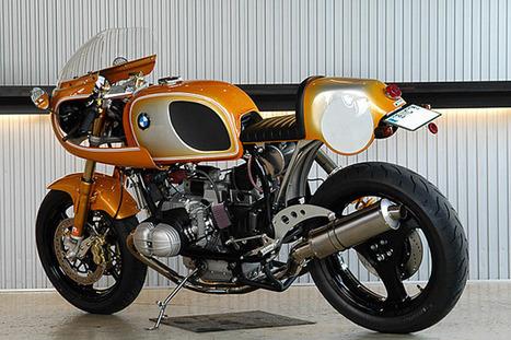 "BMW R100 RS ""ORANGE PEARL"" by RITMO SERENO   BMW Classic   Scoop.it"