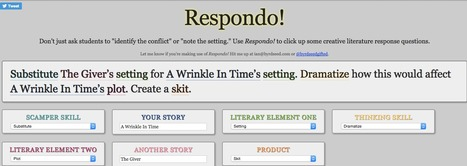Respondo! - Creative Literature Response Questions | Web 2.0 Tools - Teaching and Learning | Scoop.it