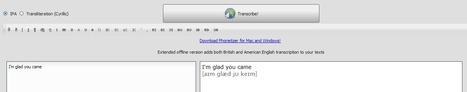 Add phonetic transcription to any English text with Phonetizer | Creative Tools... and ESL | Scoop.it