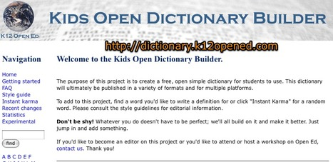 Kids Open Dictionary Builder | What's New on Shambles.NET | Scoop.it