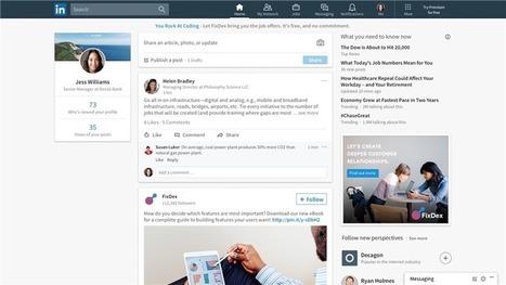 LinkedIn modernise son interface, le design revu en profondeur   Smartphones et réseaux sociaux   Scoop.it