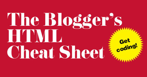IFB's HTML Cheat Sheet | Independent Fashion Bloggers | DIY: WEB & MOBILE | Scoop.it