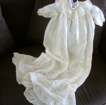 Victorian Silk Organdy & Lace Baby Or Doll Gown | Vintage Passion | Scoop.it