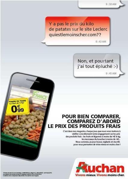 Auchan et Leclerc se font la guerre à coup de communication. | Actualité de l'Industrie Agroalimentaire | agro-media.fr | Scoop.it