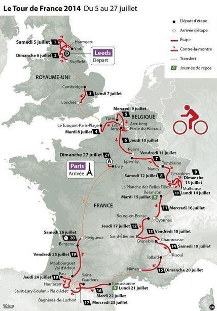 Tour de France 2014 : des pavés et cinq arrivées au sommet   A la rencontre des ch'tis   Scoop.it