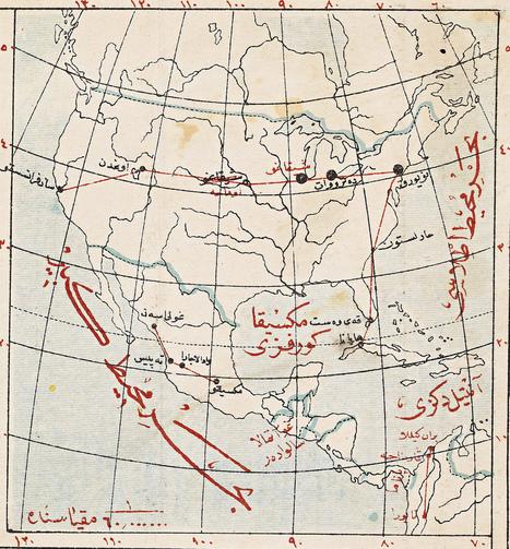 Quand les ottomans cartographiaient les Etats-Unis … et les lignes aériennes américaines! | Cassini | Merveilles - Marvels | Scoop.it