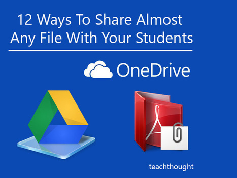 12 Ways To Share Almost Any File With Your Students - te@chthought | Teaching Online | Scoop.it