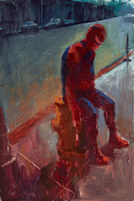 Fan art of the day: Wasted Superherooes: Paintings... | All Geeks | Scoop.it