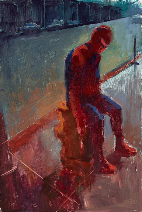Fan art of the day:Wasted Superherooes: Paintings... | All Geeks | Scoop.it