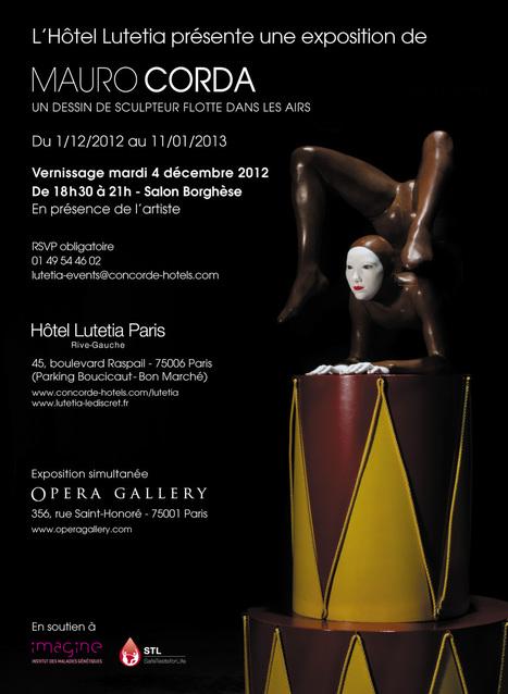Exposition de sculptures de Mauro Corda à l'Hôtel Lutetia ... | HOTEL LE SENAT PARIS | Scoop.it