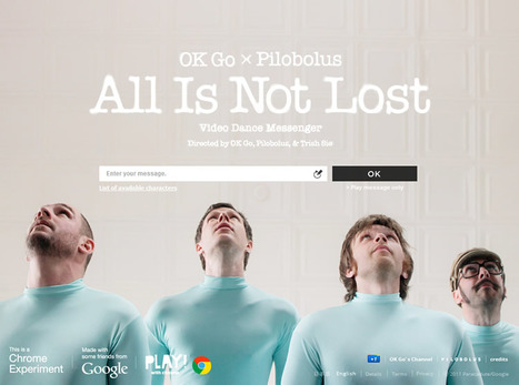 "OK GO ทำ MV ""All is not lost"" ของ มาพร้อมกับ Project Google Chrome ชิ้นใหม่ และ pilobolus | Butthun | Scoop.it"