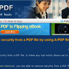 How to remove security from a PDF file by using A-PDF Restrictions Remover?
