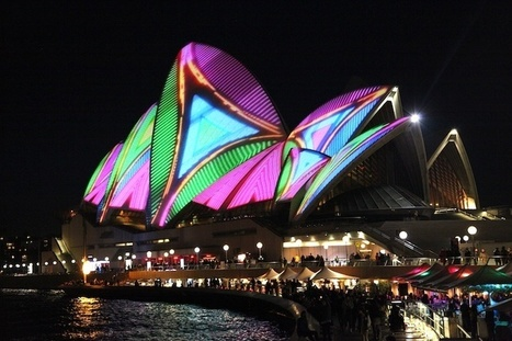Laser Projection Gives The Sydney Opera House A Bright, Colorful Makeover | Communication design | Scoop.it