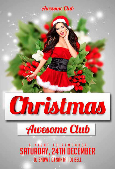15 Best Christmas Party Flyer Free PSD | Design Slots | Scoop.it