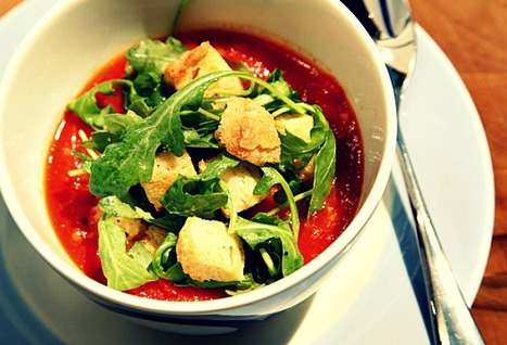 Tomato and bread soup with garlic croutons | World Foodies | Scoop.it