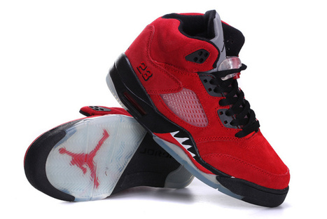 premium selection 09960 48fd6 Air Jordan 5 Women Raging Bull Red Suede for Sale Online   Nike Air Jordans