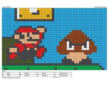 Super Mario Coloring Page Coloring Squared