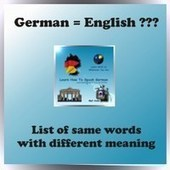 Same word but different meaning (English/German) | | German learning resources and ideas | Scoop.it