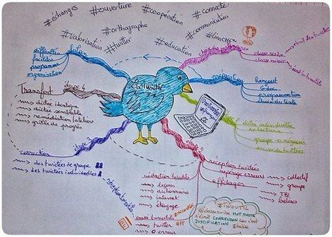 Usage de Twitter en classe en carte mentale   Médias sociaux en classe   Scoop.it