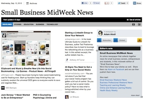 Sept 12 - Small Business MidWeek News | Transformations in Business & Tourism | Scoop.it