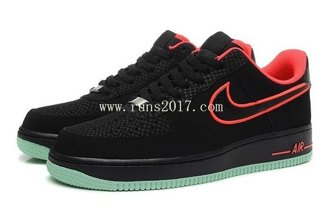 Nike Air Force 1 Low Men Black Red Mint [AirFor