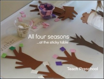All four seasons at the sticky table | Teach Preschool | Scoop.it