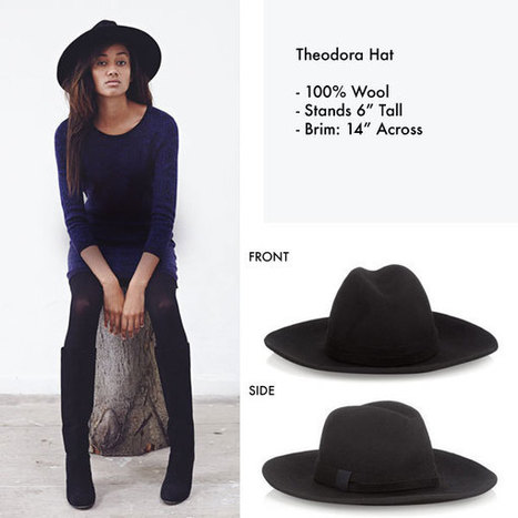The Theodora Hat is Here • Jigsaw Says Blog | Womens Fashion | Scoop.it