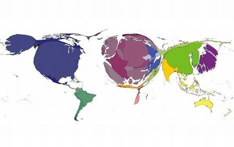 Explore – A cartogram distorting the world by value of... | Digital Cartography | Scoop.it