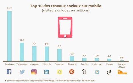 Infographie : top 10 des réseaux sociaux sur mobile ! - No Web Agency | Internet Martinique | Scoop.it