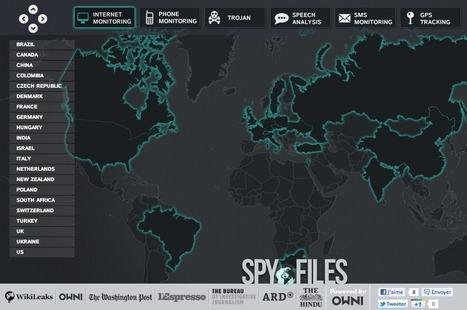 The Spy Files #wikileaks Internet's spy maps | SPY FILES | Scoop.it